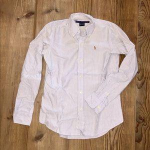 Ralph Lauren Sport Slim Fit Oxford - Blue & White